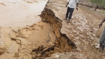 Kalma camp in South Darfur affected by flash floods, 18 July 2015 (RD)