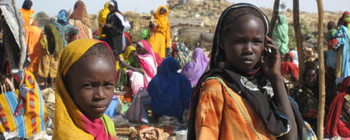 Camp for Sudanese refugees in eastern Chad (file photo)