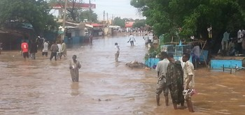 Floods in El Fasher, capital of North Darfur, August 2014