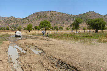 A road in the West Nuba Mountains during South Kordofan's dry season in November, 2012 (Rita Willaert)