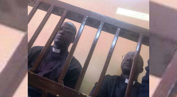Pastors Michael Yat Ruot and Peter Yein Reith during a trial session in Khartoum, earlier this year (charismanews.com)