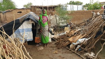 Kalma camp in South Darfur after heavy rains, 18 August 2015 (RD)