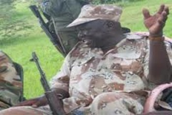 Rebel leader Abdelaziz El Hilu, pictured as deputy chairman, before his appointment as acting chairman (photo courtesy of SPLM-N)