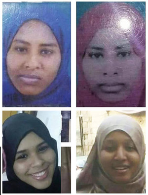 The four students who reportedly left Khartoum on 30 August 2015 to join the ranks of the Islamic State (El Sudani newspaper)