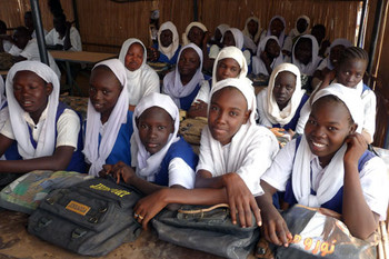 Girls at the Holy Spirit Save the Saveable School, Omdurman, Khartoum (file photo)