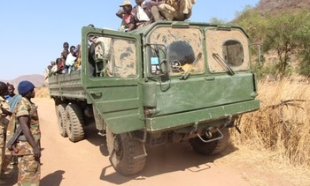 Former German army trucks in Sudan being imported from the Netherlands in 2011-2013 (Photo: Courtesy VPRO)