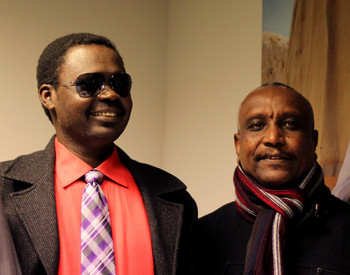 Minni Minawi (L) of the SLM-MM and Yasir Arman, Secretary-General of the SPLM-N (file photo/RD)