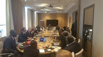 A general view of the meeting of the international special envoys with the factions of the Sudanese Revolutionary Front (SRF) in Paris on 09 September 2015 (Photo Sudan Tribune)