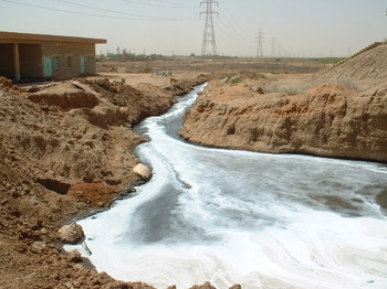 Raw sewage flowing to the White Nile (UNEP)