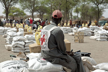 Red Cross (ICRC) staff in Darfur (file photo)