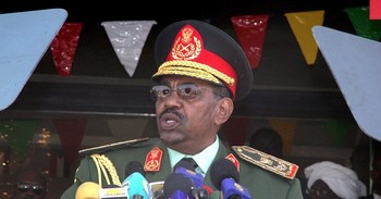 Sudan's President Omar Al Bashir in the uniform of Field Marshal as Commander-in-Chief of the Sudan Armed Forces (File Photo)