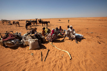 New arrivals at Zamzam camp for the displaced near El Fasher, capital of North Darfur (Hamid Abdulsalam / Unamid)