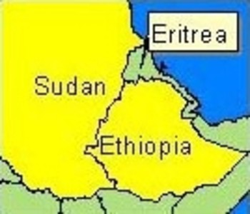 IRIN map of Sudan, Eritrea, and Ethiopia