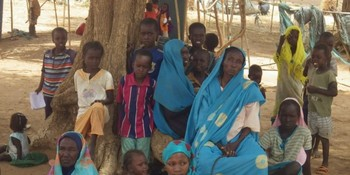 A displaced family in Darfur (File photo: OCHA)
