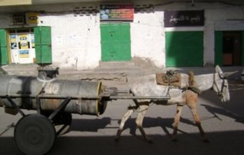 A donkey cart providing drinking water in Port Sudan (File photo: tobogganride.com)