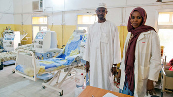 The El Fasher Hopsital in North Darfur has three machines for kidney dialysis, but only two are functioning (devex.com).
