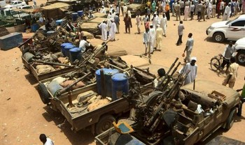 Vehicles of the RSF in Darfur (File photo)