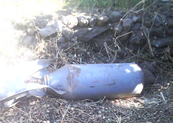 UXO found near Toringa in Jebel Marra on 9 March 2016 (File photo)