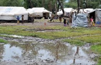 Heavy rains have left large areas flooded in the refugee camps in Upper Nile state, South Sudan (Oxfam/Alun McDonald)