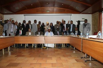 A meeting of the Sudan Appeal in Paris on 21 July 2016 (file photo)
