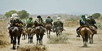 A group of gunmen in Darfur (file photo)