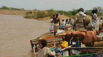 Flooding of the river El Gash in Kassala State, eastern Sudan (16 July 2016 RD)