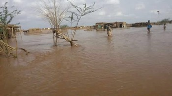Flooding of the river El Gash in Kassala State, eastern Sudan, july 2016 (RD)
