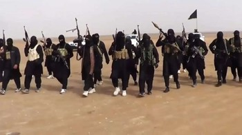 ISIS militants in the Iraqi desert (AFP: Ho/ISIS)