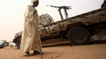 Sudan Armed Forces vehicle in Darfur (file photo)