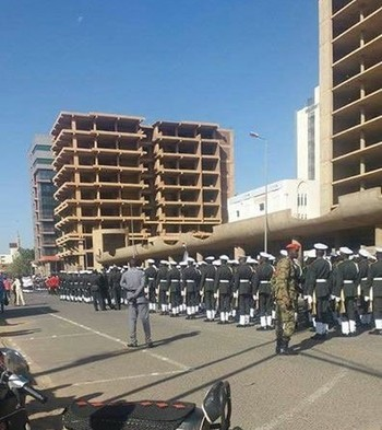 The National Guard parades in Khartoum on the occasion of the 61st anniversary of Sudan's Independence Declaration,19 December 2016  (Twitter)