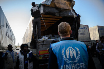 UNHCR workers (file photo)