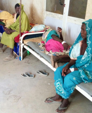 Women injured during the violence in Nierteti
