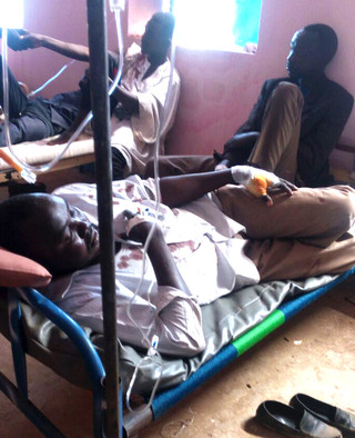 Some of those wounded in the Nierteti violence