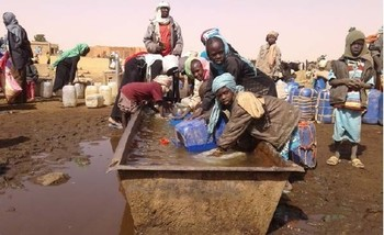 Water collection in Baashim village, North Darfur (January 2017, UN)