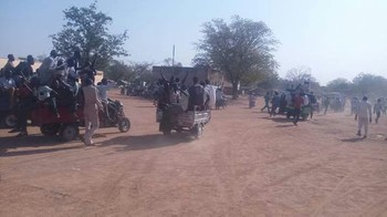 Protest against gold mining factory in Talodi locality, South Kordofan on 9 February 2017 (RD)