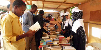 A stand at the International Book Fair in Khartoum, October 2016 (today.ng)