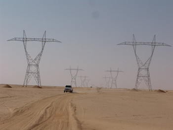 Electricity transmission from northern Sudan's Merowe Dam (File photo: Fanack Chronicle)