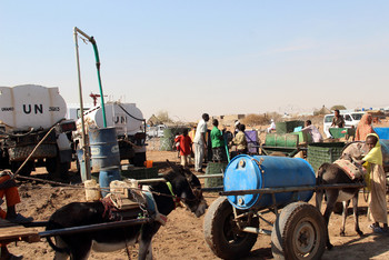 A water point in Ed Daein, East Darfur, serviced Unamid water tankers (File photo: Abdulrasheed Yakubu/Unamid)