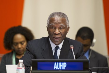 Former South African President Thabo Mbeki, chairman of AUHIP (File photo)
