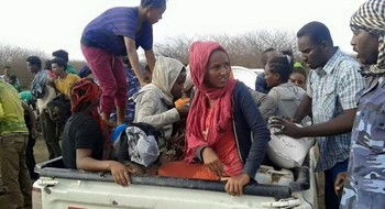 Eritreans freed from human traffickers in Sudan (Archive photo)