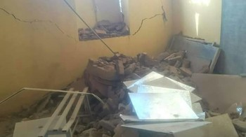 Interior of a church building in Soba Aradi in south-east Khartoum, demolished on 7 May 2017 (photographer unknown)