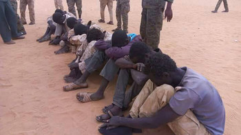Captured rebel fighters in El Fasher, capital of North Darfur, 23 May 2017 (Government of Sudan)