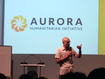 Tom Catena visiting Yerevan to accept the Aurora Prize for Awakening Humanity, 22 May 2017 (auroraprize.com)