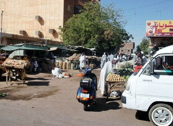 A vegetable market in Khartoum North (file photo)