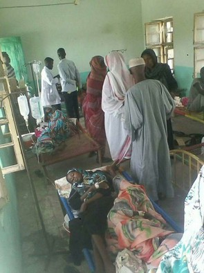 Cholera patients in Sudan (file photo)