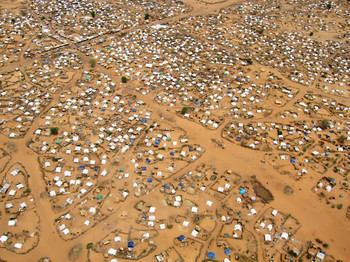 This camp for displaced people in Gireida, South Darfur, has hosted thousands of people living in tents for years (file photo)
