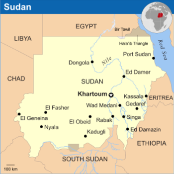 Map of Sudan (OCHA)
