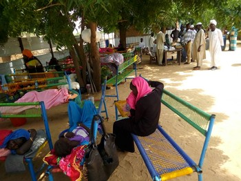 Cholera patients at Kalma camp in Nyala last week (RD)
