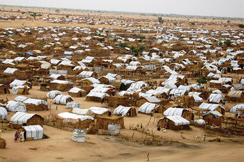 A view of ZamZam camp for the displaced in North Darfur (File photo)