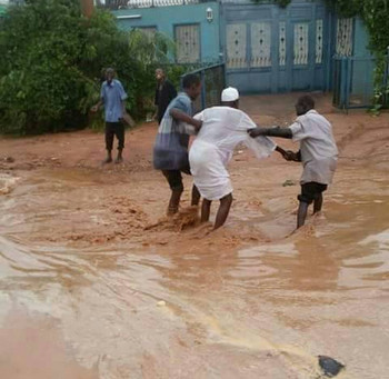 Flash floods in Sudan during the rainy season (File photo)